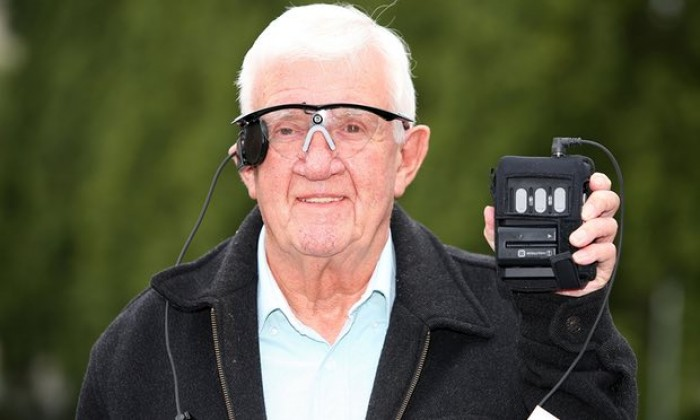 A partially sighted pensioner has had his central vision restored for the first time in ...